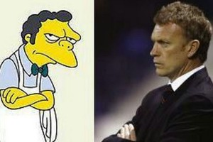 David Moyes og mr. Burns fra the Simpons