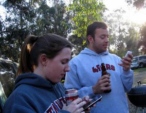 Skal vi to være venner - og grille mobiltelefonene våre?