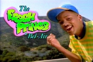 "En UNG Will Smith i ""The Fresh Prince of Bel Air"""