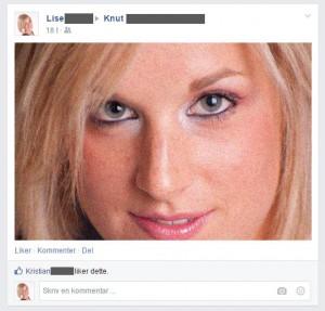 Post et creepy bilde av deg selv på Facebookveggen til en venn