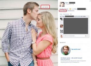 Forlovelsesbilder - en gullgruve på Facebook