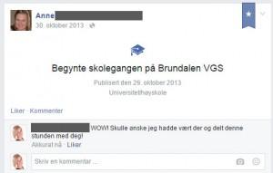 Livshendelser på Facebook - en merkelig greie