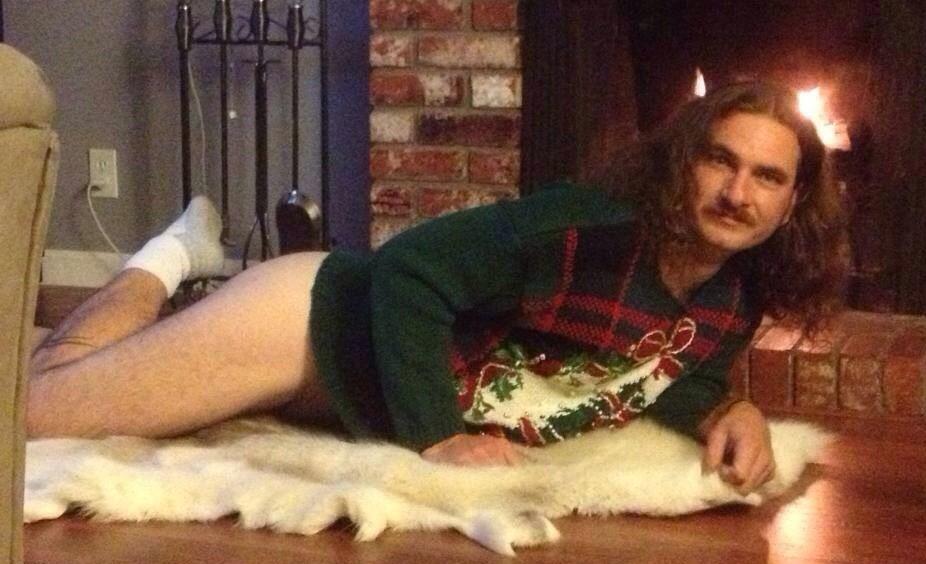 Onkel Jørgen sendte oss dette julekortet i fjor – han ble ikke invitert på julemiddag